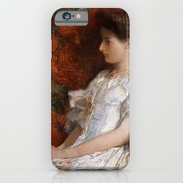 Childe Hassam - The Victorian Chair iPhone Case