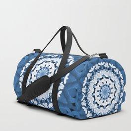 Snowball flower mandala Duffle Bag