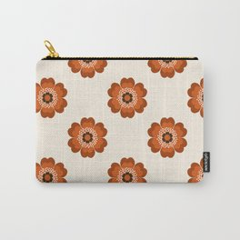 Retro floral flowers pattern minimal 70s style pattern print 1970's Carry-All Pouch
