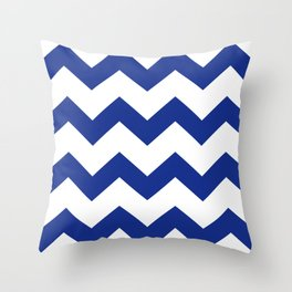 Blue Chevron Throw Pillow