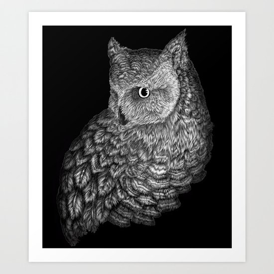 A Friend for Forsythe in Black Art Print