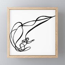 Throw Shade :: Single Line Framed Mini Art Print