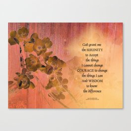 Serenity Prayer Quince and Fence One Canvas Print