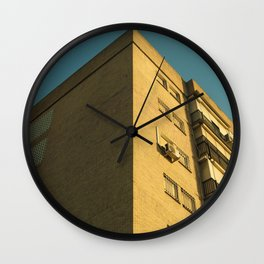 Corner building Wall Clock