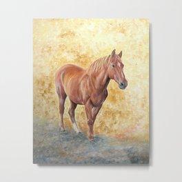 Chestnut Racehorse Metal Print
