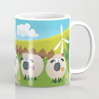 sheep Mugs featuring Sheep by Elle Moz