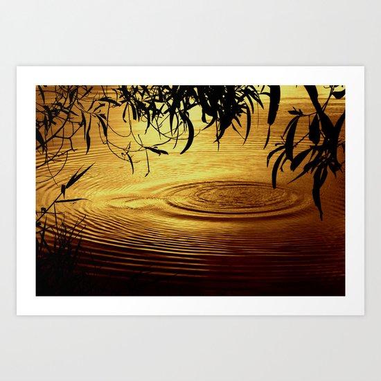 Honey Ripples Art Print