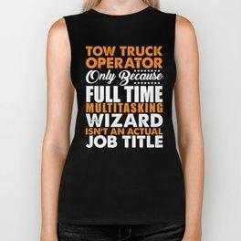 Tow Truck Operator Wizard Biker Tank