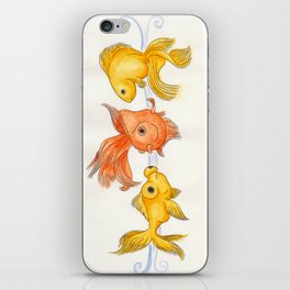 Goldfish Trio iPhone Skin