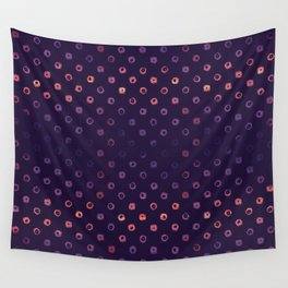 Abstract Gradient Circles on Purple Background Wall Tapestry
