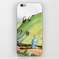 the hobbit iPhone & iPod Skins featuring The Hobbit by Emily