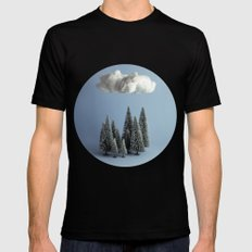 A cloud over the forest Black Mens Fitted Tee MEDIUM