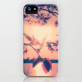 To Love and Be Loved (Spring Pink Cherry Blossoms at Dusk) iPhone Case