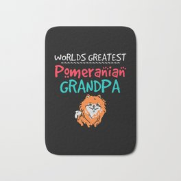 Worlds greatest pomeranian grandpa Bath Mat