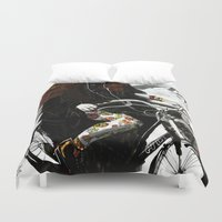 shopping Duvet Covers featuring groccery shopping by Ksenia Sapunkova