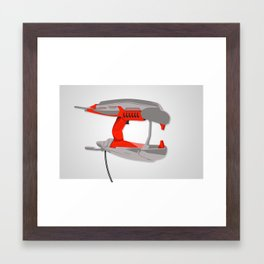 plasma zapper. Framed Art Print