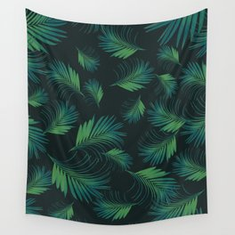 Tropical Night Palms Pattern #1 #tropical #decor #art #society6 Wall Tapestry