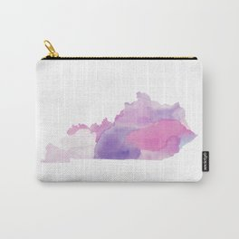 Watercolor State Map - Kentucky KY purples Carry-All Pouch