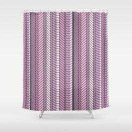 Purple Optical Illustion Shower Curtain