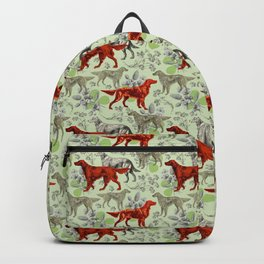 IRISH RED SETTER DOGS & GREEN CLOVER MEADOW Backpack