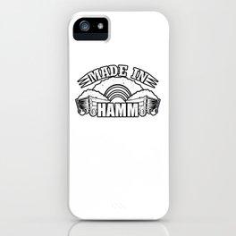Made in Hamm iPhone Case