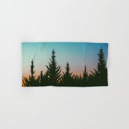 TREES - SUNSET - SUNRISE - SKY - COLOR - FOREST - PHOTOGRAPHY Hand & Bath Towel