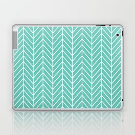 Turquoise Herringbone Pattern Laptop & iPad Skin