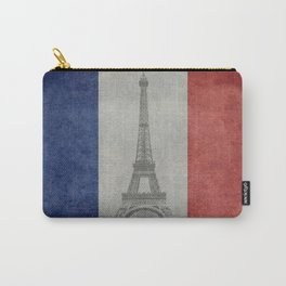 Flag of France with Eiffel Tower Carry-All Pouch
