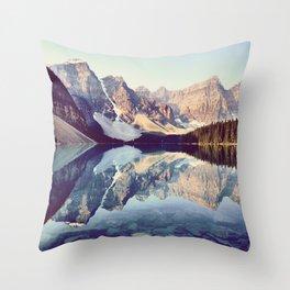 Moraine Lake Reflection Throw Pillow