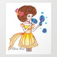 The Bubble Note Art Print