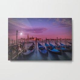 VENICE Gorgeous Sunset Metal Print