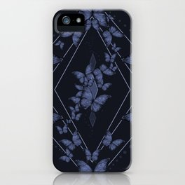 Insecta Pattern - Indigo Wash iPhone Case