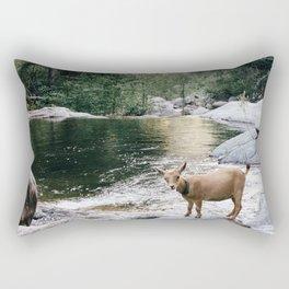 goat creek Rectangular Pillow