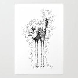 Electrocuted Cat by Carine-M Art Print