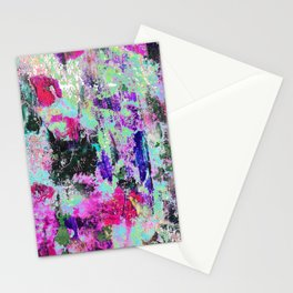 Bright Paint Peeling Stationery Cards