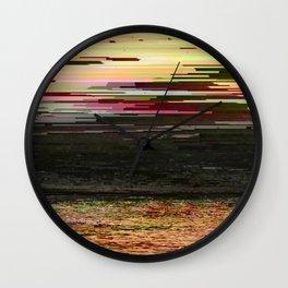 LOST SUMMER - Glitch Art Iphone Case Wall Clock