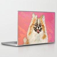 pomeranian Laptop & iPad Skins featuring Twinki Gurl Pomeranian by gretzky