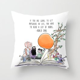 Roald Dahl Day Throw Pillow