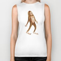 sasquatch Biker Tanks featuring Sasquatch by Stephanie Marie Steinhauer
