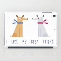 best friend iPad Cases featuring Best Friend by Juliana Motzko