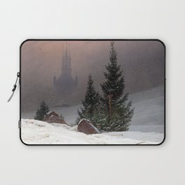 Caspar David Friedrich Winter Landscape Laptop Sleeve