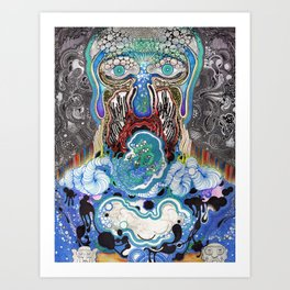 Dark Flow Tips The Velvet Art Print