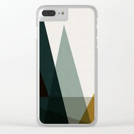 Abstract and geometric landscape 05 Clear iPhone Case