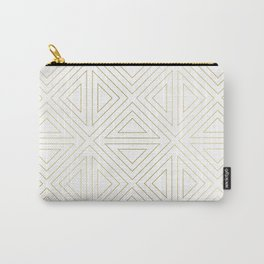 Angled White Gold Carry-All Pouch