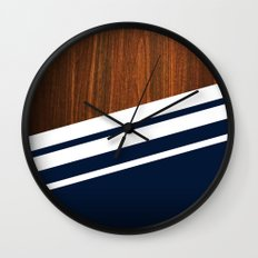 Wooden Navy Wall Clock