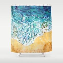 Ocean Waves at the Beach Shower Curtain