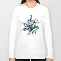 cracked Long Sleeve T-shirts featuring Cracked I by AJJ ▲ Angela Jane Johnston