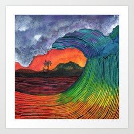 hartless wave Art Print
