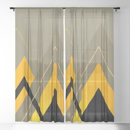 Geometric Composition 31 Sheer Curtain
