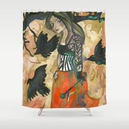 Raven Witch - Grimm Autumn Shower Curtain